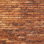 Mur de briques orange