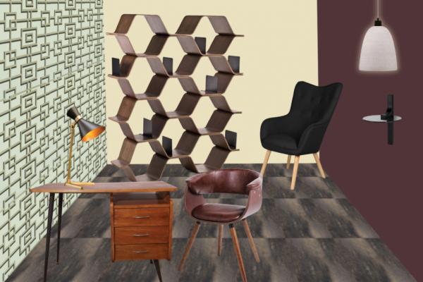 Planche mobilier du bureau, projet mmi