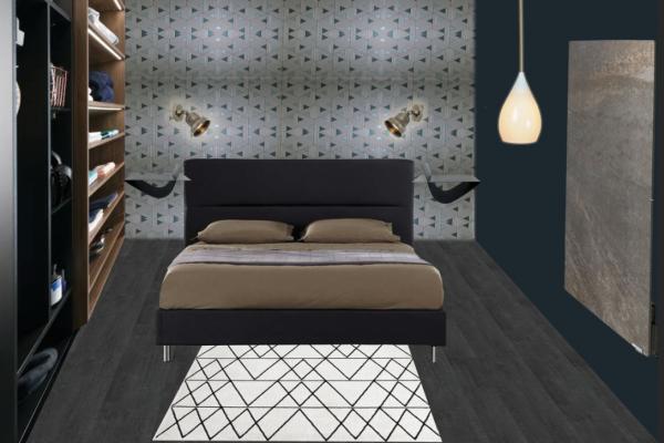 Planche mobilier chambre Luc, projet mmi