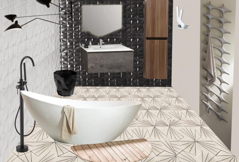 Planche mobilier de la salle de bain, projet mmi