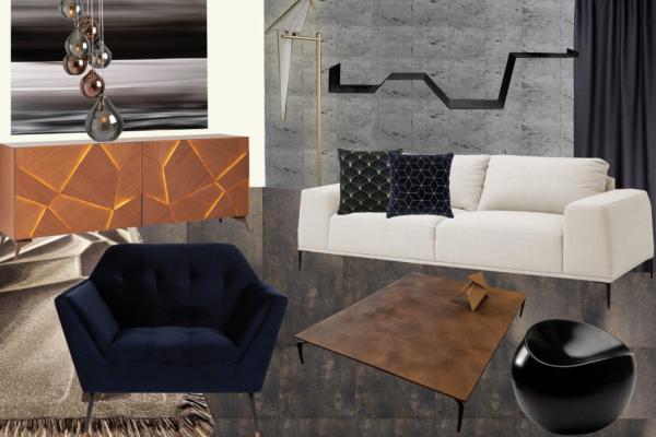 Planche mobilier du salon, projet mmi