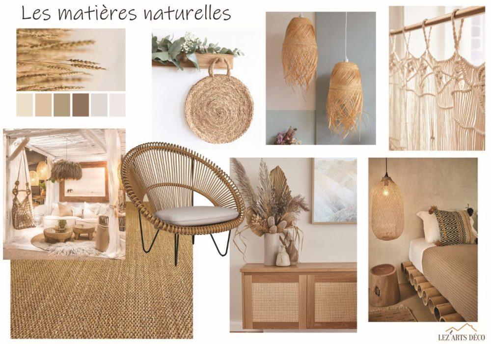 planche les matières naturelles