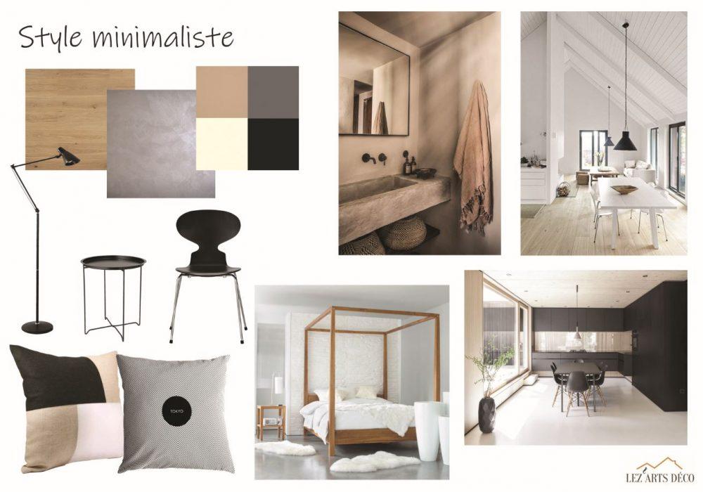 planche de style minimaliste
